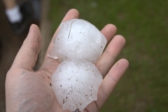 Softball Size Hail Damage Grand Prairie TX